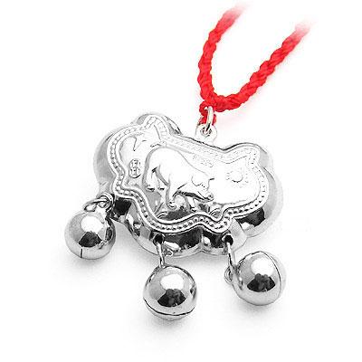 儿童红绳铃铛项链