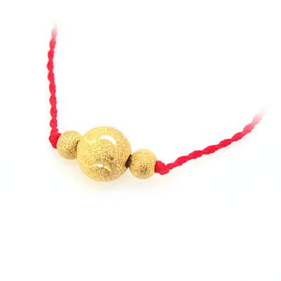 转运珠红绳项链-请教一下用红绳编手链和项链加黄金