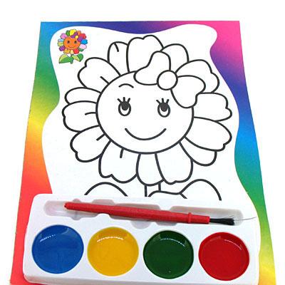 儿童太阳花双面水彩画-福泉学习用品加盟 学习用品加盟