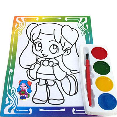 小娃娃学习用双面水彩画