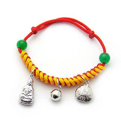 红绳手链编法图解婴儿